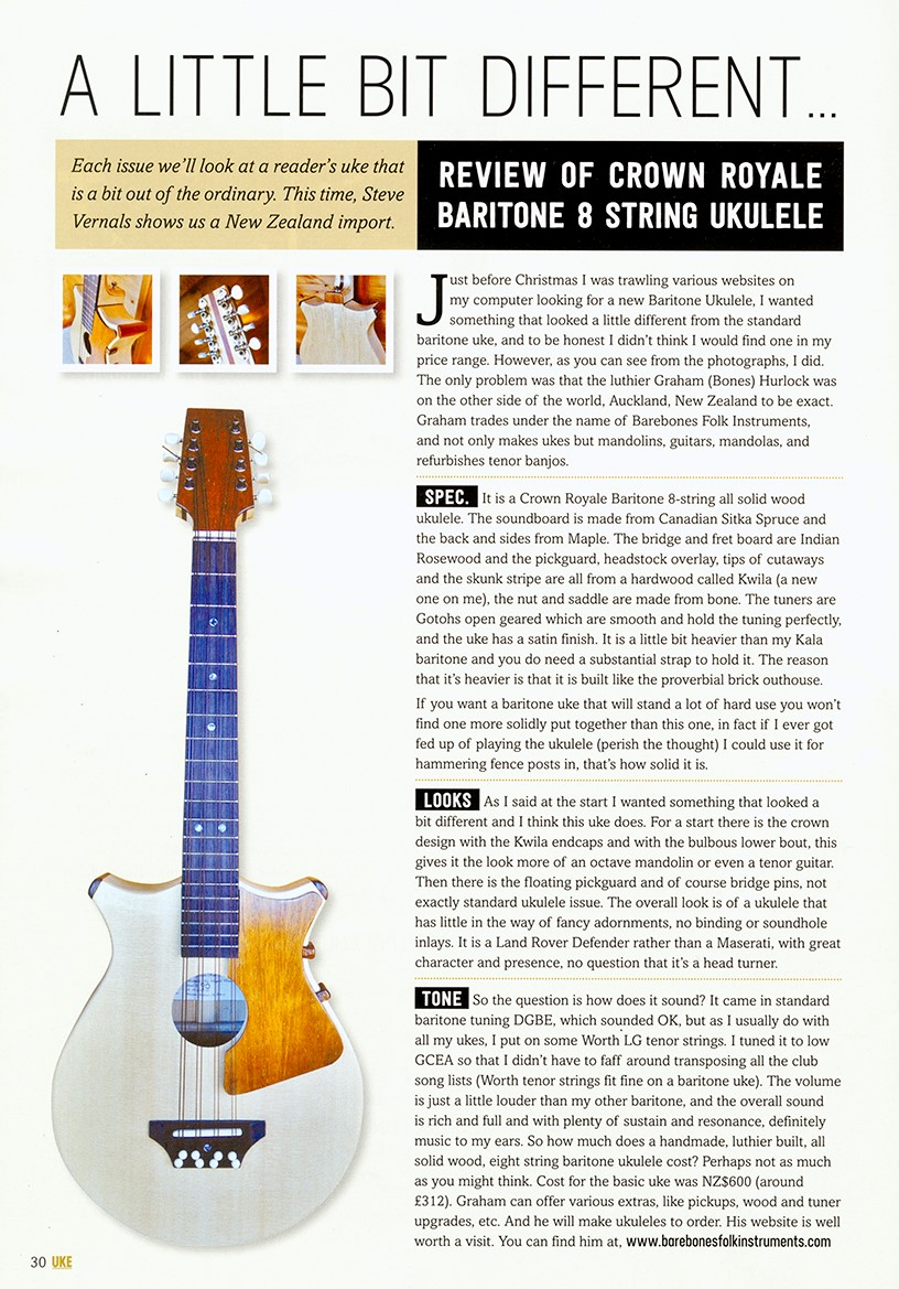 Barebones review UKE magazine 2015 HD copy