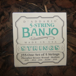 BANJO STRINGS (Set of 5) Medium gauge