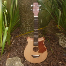 CROWN CHEVRON TENOR UKULELE – Cherry with Spruce top